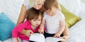 dzieci, czytać, książka, mama, rozwój dziecka