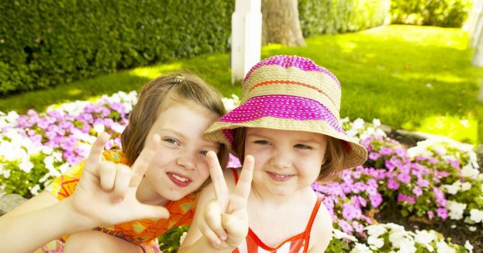 dzieci, dziewczynki, lato