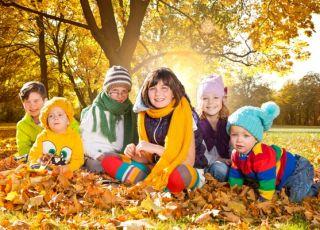 dzieci, jesień, moda