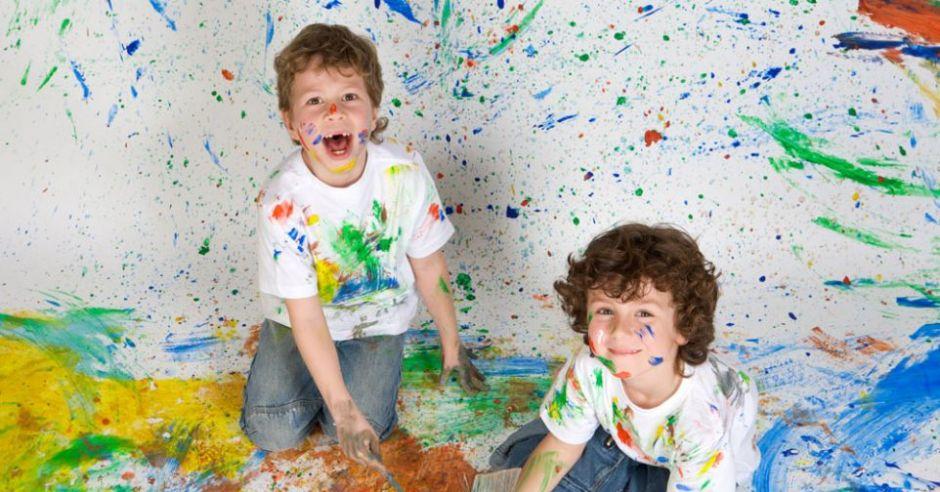 dzieci, malowanie