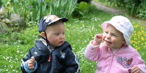 dzieci, ogród