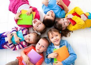 dzieci, przedszkolaki, książki, przedszkole