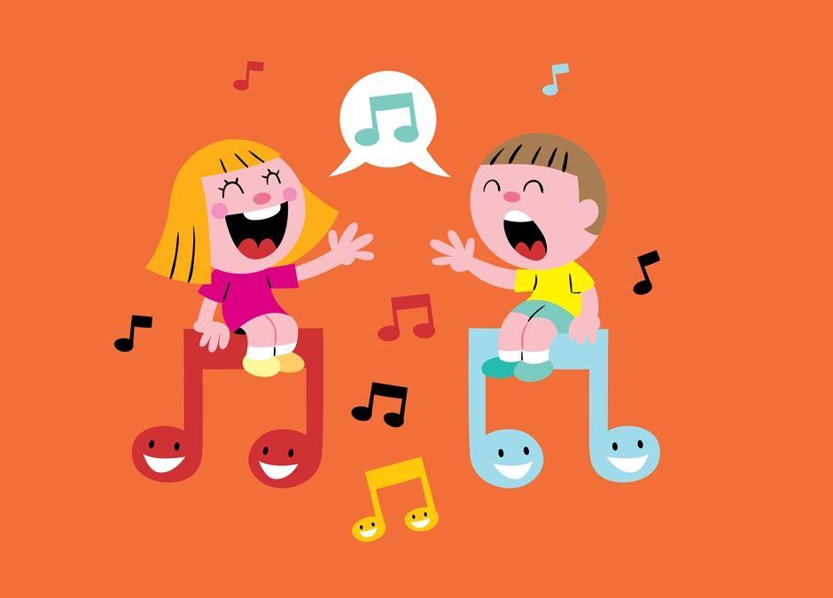 dzieci śpiewają piosenki dla dzieci