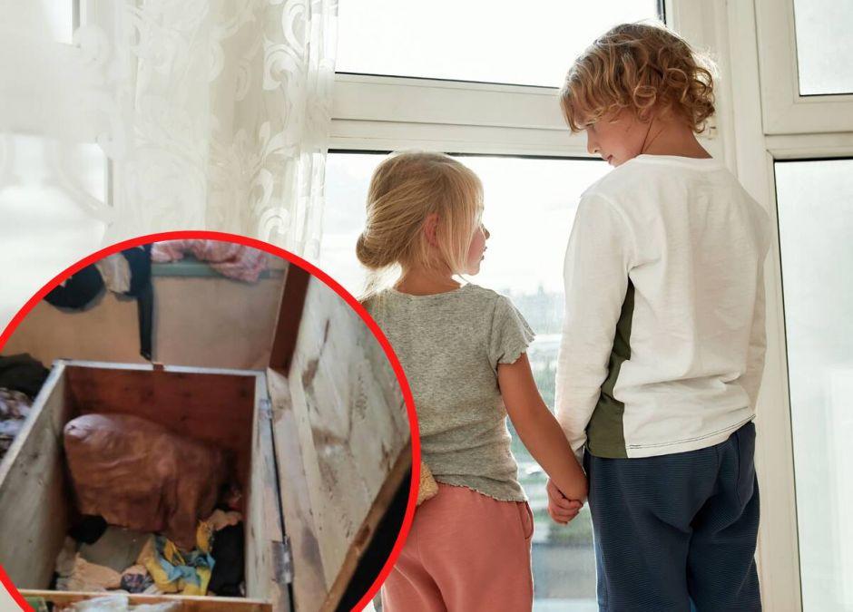 Dzieci udusiły się w skrzyni, gdy były same w domu