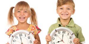 dzieci, zegar, czas