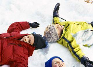 dzieci, zima