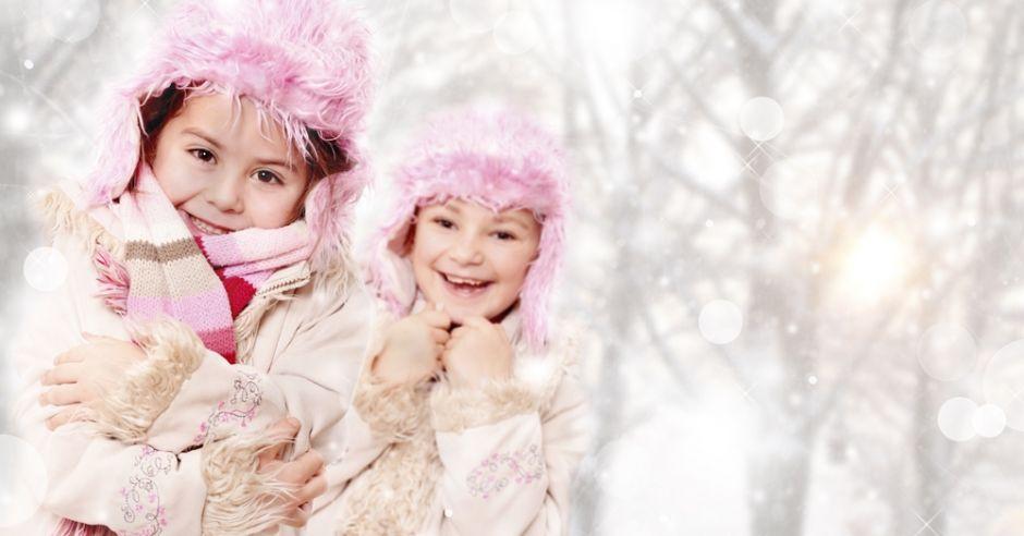 dzieci, zima, mróz