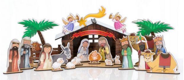 szopki bożonarodzeniowe w dziecięcym stylu