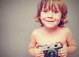 dziecko, aparat, zdjęcie