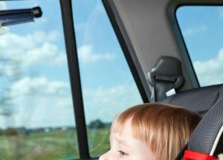 dziecko, auto, samochód, podróż