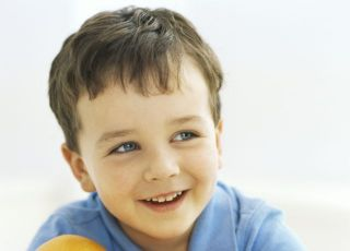 dziecko, chłopiec, kuchnia, owoce, cytrusy