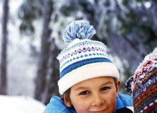 dziecko, chłopiec, zima