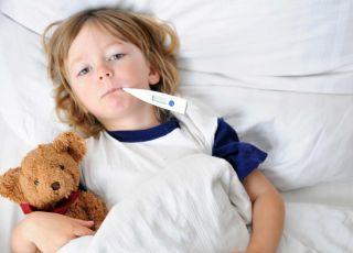 dziecko chore na grypę