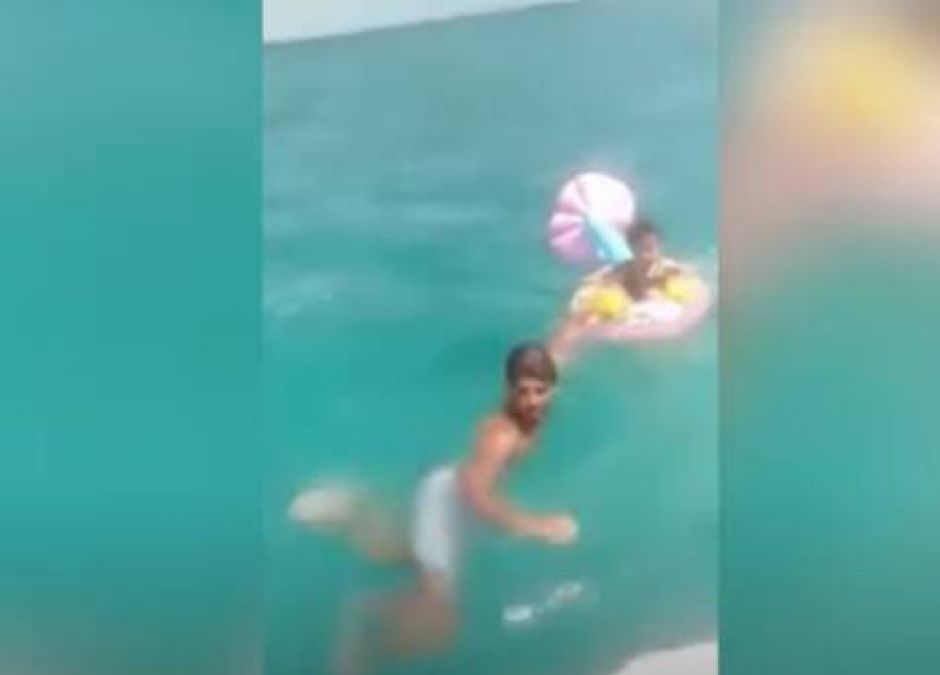 dziecko dryfowało daleko od brzegu