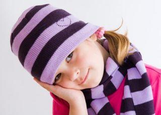 dziecko, dziewczynka, czapka, czapka w paski