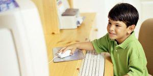 dziecko, dziewczynka, komputer, internet