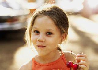 dziecko, dziewczynka, kuchnia, owoce