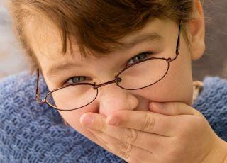 dziecko, dziewczynka, okulary, wzrok