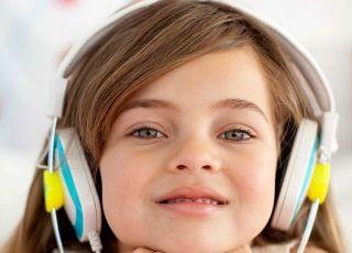 dziecko, dziewczynka, słuchawki