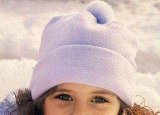 dziecko, dziewczynka, zima, śnieg
