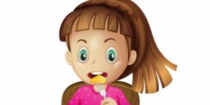 Dziecko je niezdrowe jedzenie