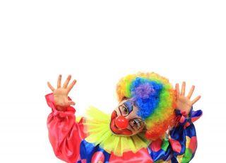 dziecko, klaun