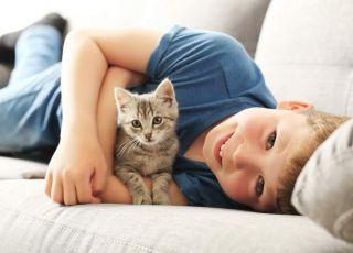 Dziecko, kot i astma