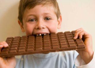 dziecko, kuchnia, czekolada