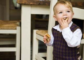 dziecko, kuchnia, krzesło