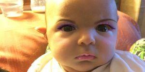 dziecko, makijaż, niemowlak