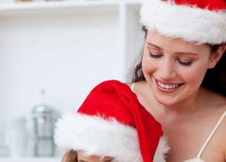 dziecko, mama, święta, Boże Narodzenie, kuchnia, pierniczki