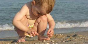 dziecko, morze, wakacje