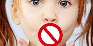 dziecko, mówić, zakaz