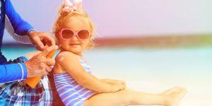 dziecko na słońcu