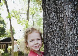 dziecko, natura, drzewo