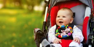 dziecko, niemowlę, spacer, wózek dziecięcy