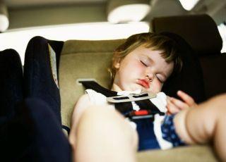 dziecko, niemowlę, samochód, fotelik