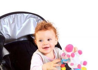 dziecko, niemowlę, wózek, spacerówka