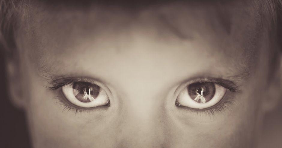 dziecko, oczy, smutek