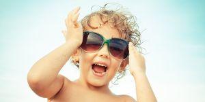 dziecko, okulary, słońce