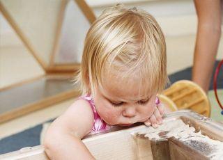 dziecko, piaskownica, zabawa