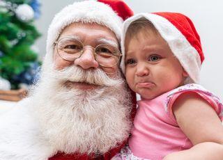 dziecko płakało przez mikołaja