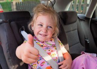 dziecko, podróż, samochód