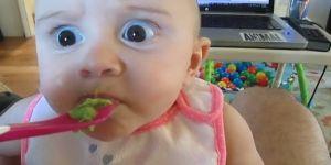 dziecko próbuje avocado