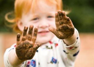 dziecko, ręce, higiena
