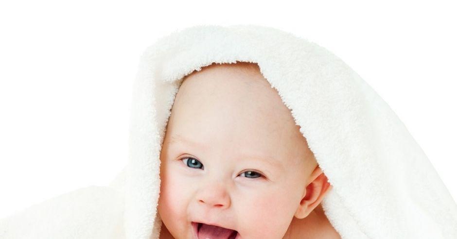 dziecko, ręcznik, niemowlę, uśmiech