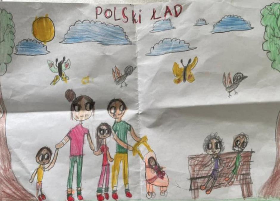 dziecko rysuje Polski Ład