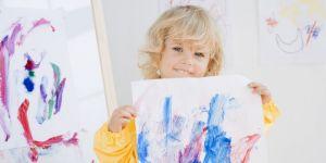 dziecko, rysunek, farby