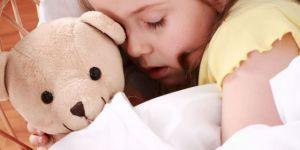 dziecko, sen, spać, maskotka, miś