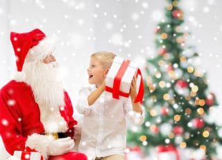 dziecko, święta, Mikołaj, prezent